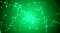 Abstract green network connection video