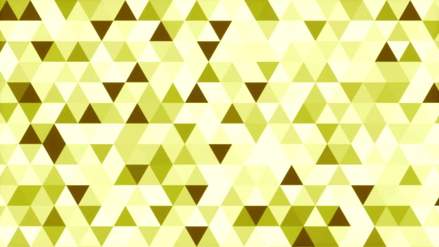 Abstract green shades geometric triangle pattern 3d rendering video