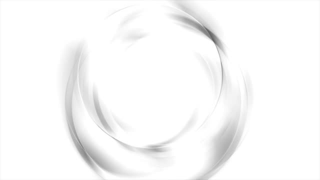 Abstract grey and white wavy circles video animation video
