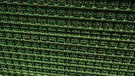 Abstract grid in green color video