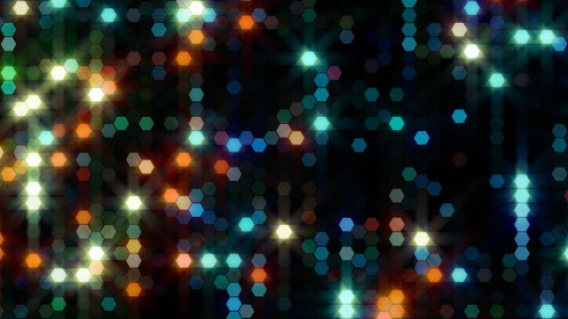 Abstract hexagon lights. Loopable. video