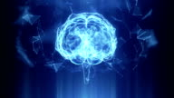 Abstract Human Brain Technology Background video