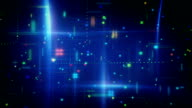 abstract information techno loopable animation video