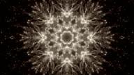 Abstract kaleidoscope background loop video