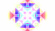 Abstract kaleidoscope pastel  triangles loopable background footage video