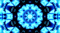 Abstract Kaleidoscope Technology blue  triangles loopable background footage video