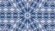 Abstract kaleidoscopic circle pattern in blue colors. video