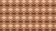 Abstract kaleidoscopic circle pattern in brown colors. video