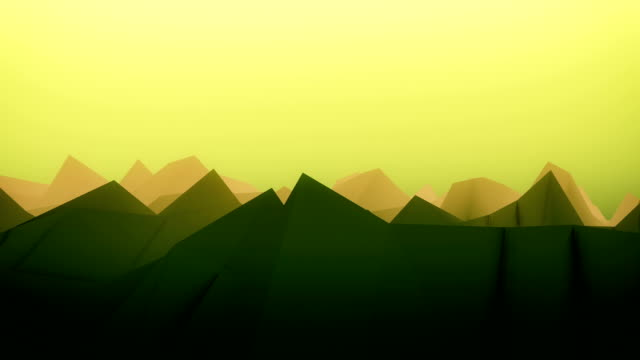 Abstract landscape surface in green and yellow video