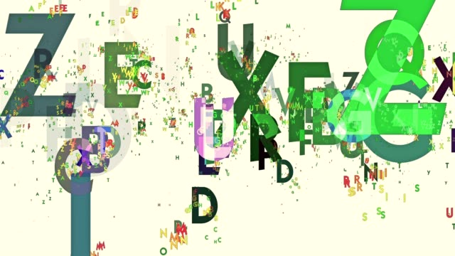 Abstract letters in various colors video