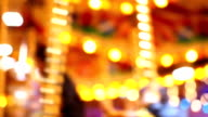 Abstract light Carousel, circus and Amusement park with kids video