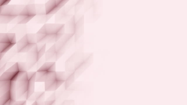 Abstract light red 3D polygonal motion background for modern reports and presetations. FullHD seamless loop animation, ProRes video