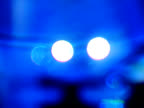 Abstract lighting effects - car lights in dreamy blue video