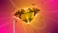 Abstract Luxury Background With Precious Gems video