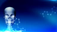 Abstract medical background, skeleton, health care video