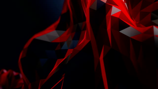 Abstract modern business science polygon background video