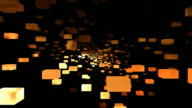 Abstract Mosaic Cubes in Space video