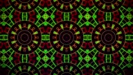 Abstract mosaic in red,green and black video