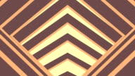 Abstract Motion Flat Shaded Tunnel , Brown Coffee Color , Seamless Loop video
