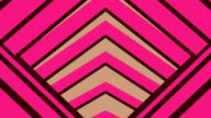 Abstract Motion Flat Shaded Tunnel , Brownie Pink , Seamless Loop video