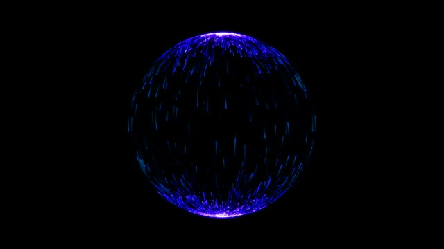 Abstract Navy Blue Spherical Backgrounds video