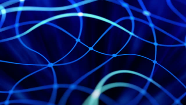 Abstract network background. video