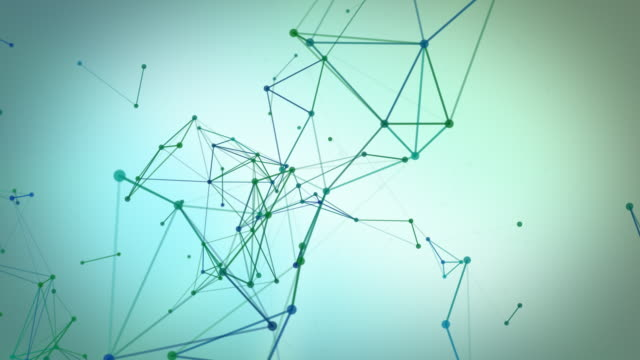 Abstract network of lines and dots. Loopable. video