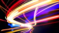 Abstract night traffic loop video