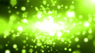 Abstract Off Focus Particles Background Green video