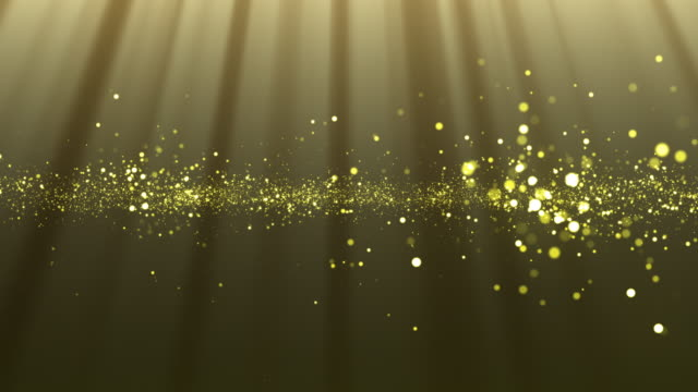 abstract particle background with rays video