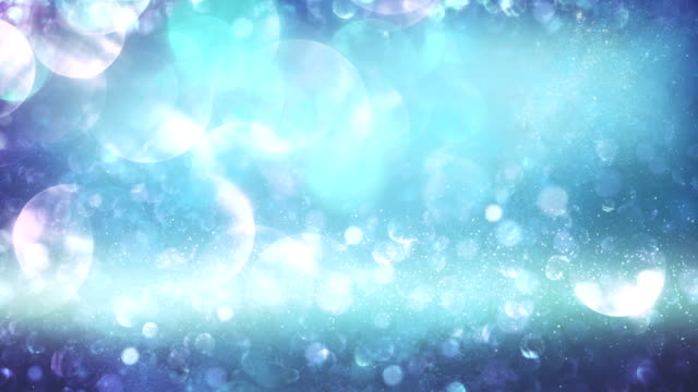 Abstract particles (light blue) - Loop video