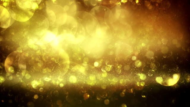 Abstract particles (gold) - Loop video