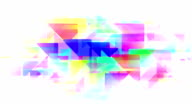 Abstract pastel  triangles loopable background footage video