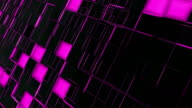 Abstract pink and black squares background video