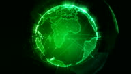 Abstract Planet earth loopable green video