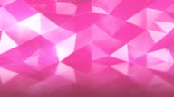 Abstract polygonal background pink color animation video