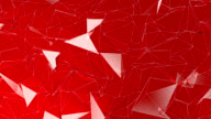 Abstract polygonal background red color animation video