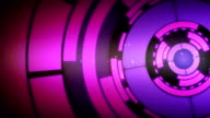 Abstract Purple Circle Spin Motion Background video