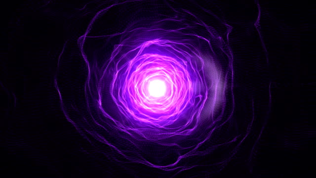 Abstract Purple tunnel video