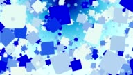 Abstract puzzle pieces in blue on white video