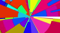 Abstract Radiating Multi Color Wheel Loop video