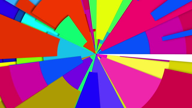 Abstract Radiating Multi Color Wheel Loop video