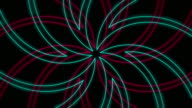 Abstract Radiating Outline Flower Pattern Background Loop video