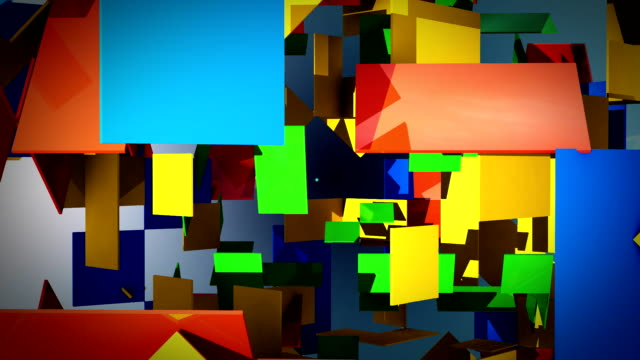 Abstract rectangles video