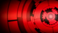 Abstract Red Circle Spin Motion Background video