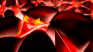 Abstract Red Crystal Glass shapes video