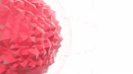 Abstract Red Geometric Polygon Shape With Particle Effects video