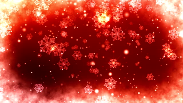 Abstract Red Snowflakes Christmas Background video