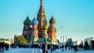 Abstract Red Square St Basils Church Time Lapse video