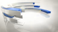 Abstract Rings Background Loops - 3 Pack Bundle Blue (HD) video
